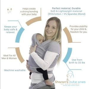 Gray Baby Wrap Carrier
